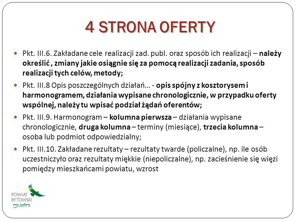 4 STRONA OFERTY Pkt. III.6. Zakładane cele realizacji zad.