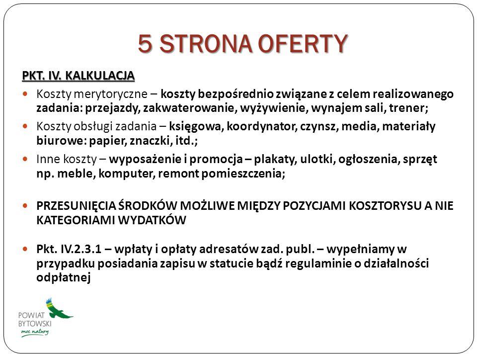 5 STRONA OFERTY PKT. IV.