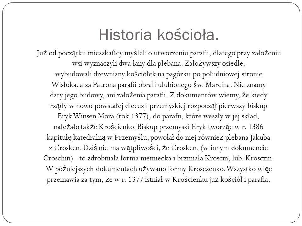 Historia kościoła.