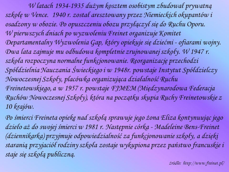 W latach 1934-1935 dużym kosztem osobistym zbudował prywatną szkołę w Vence. 1940 r. został aresztowany przez Niemieckich okupantów i osadzony w obozi