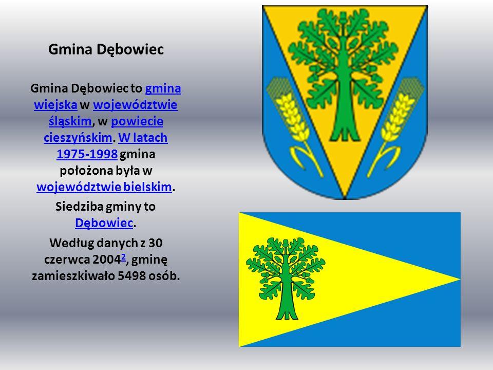 Gmina Dębowiec Gmina Dębowiec to gmina wiejska w województwie śląskim, w powiecie cieszyńskim. W latach 1975-1998 gmina położona była w województwie b
