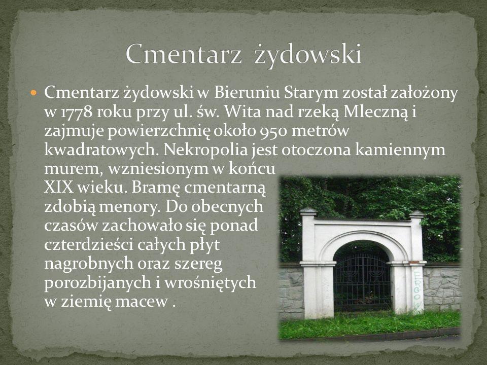Cmentarz żydowski w Bieruniu Starym został założony w 1778 roku przy ul. św. Wita nad rzeką Mleczną i zajmuje powierzchnię około 950 metrów kwadratowy