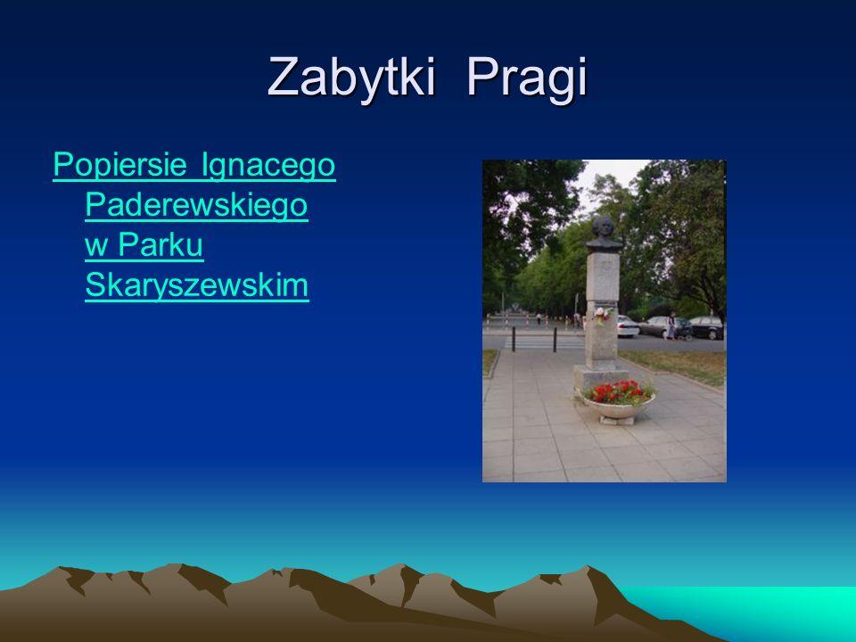 Zabytki Pragi Popiersie Ignacego Paderewskiego w Parku SkaryszewskimIgnacego PaderewskiegoParku Skaryszewskim