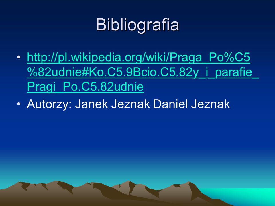 Bibliografia http://pl.wikipedia.org/wiki/Praga_Po%C5 %82udnie#Ko.C5.9Bcio.C5.82y_i_parafie_ Pragi_Po.C5.82udniehttp://pl.wikipedia.org/wiki/Praga_Po%