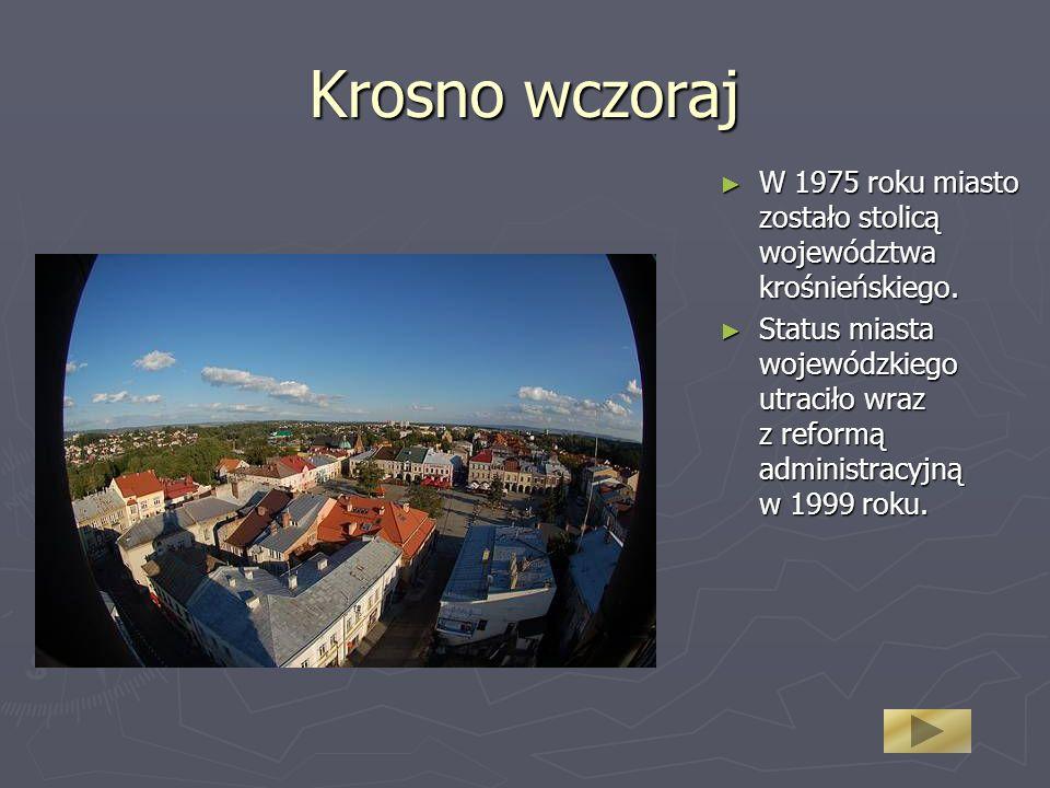 Krosno wczoraj W 1975 roku miasto zostało stolicą województwa krośnieńskiego. W 1975 roku miasto zostało stolicą województwa krośnieńskiego. Status mi