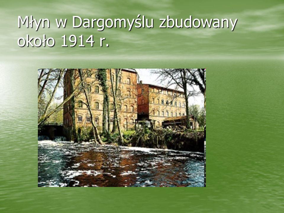 Młyn w Dargomyślu zbudowany około 1914 r.