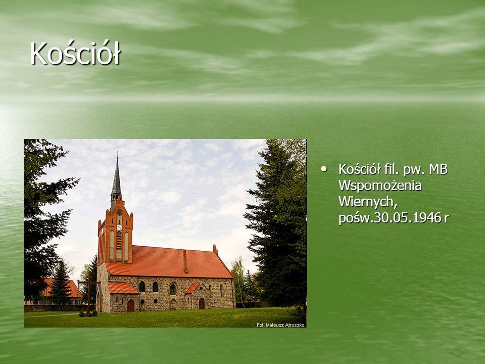 Kościół Kościół fil. pw. MB Wspomożenia Wiernych, pośw.30.05.1946 r Kościół fil. pw. MB Wspomożenia Wiernych, pośw.30.05.1946 r