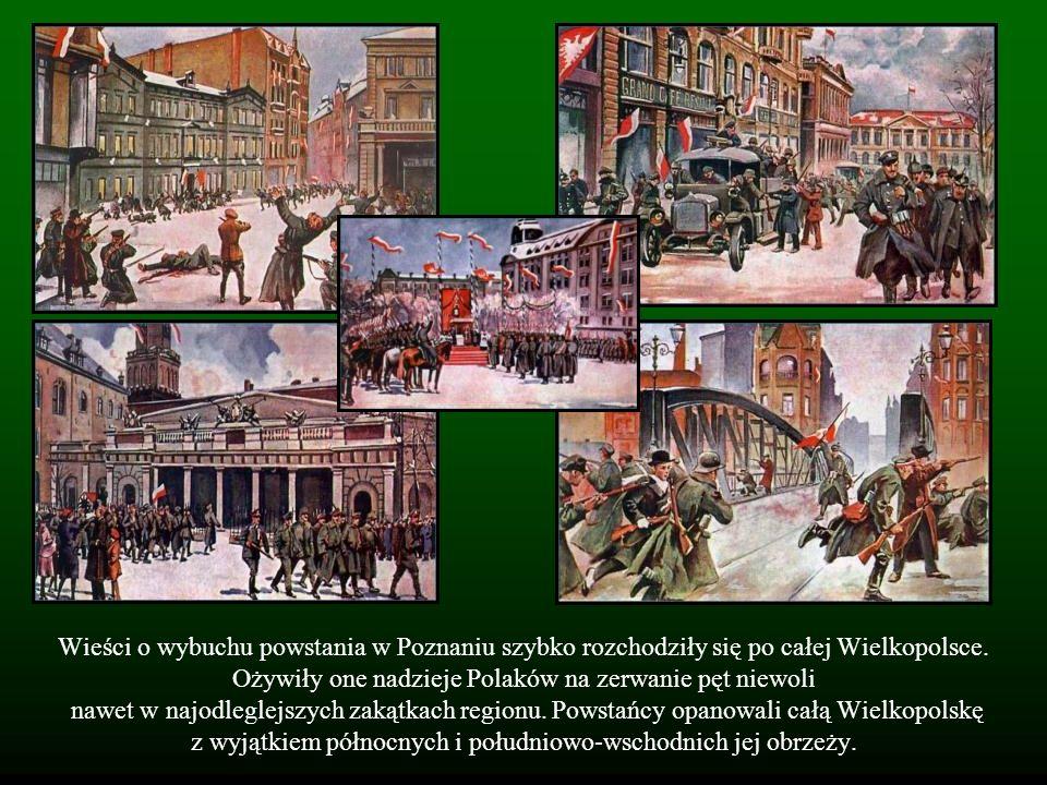 Wieści o wybuchu powstania w Poznaniu szybko rozchodziły się po całej Wielkopolsce. Ożywiły one nadzieje Polaków na zerwanie pęt niewoli nawet w najod