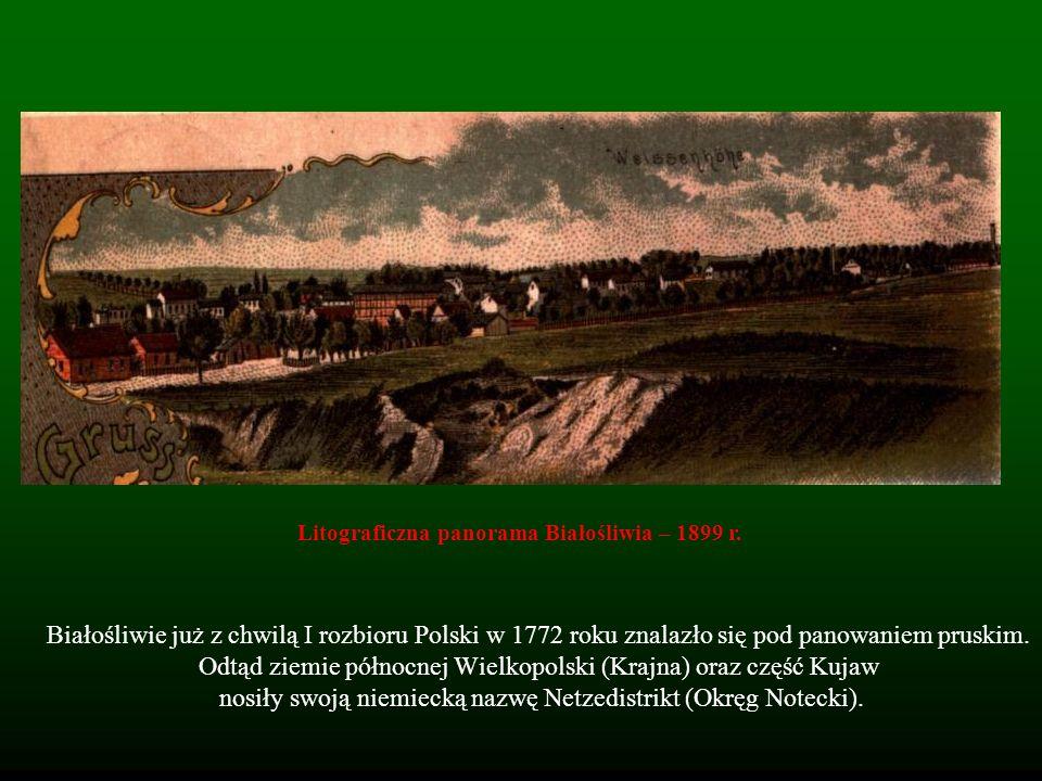 Białośliwie już z chwilą I rozbioru Polski w 1772 roku znalazło się pod panowaniem pruskim. Odtąd ziemie północnej Wielkopolski (Krajna) oraz część Ku