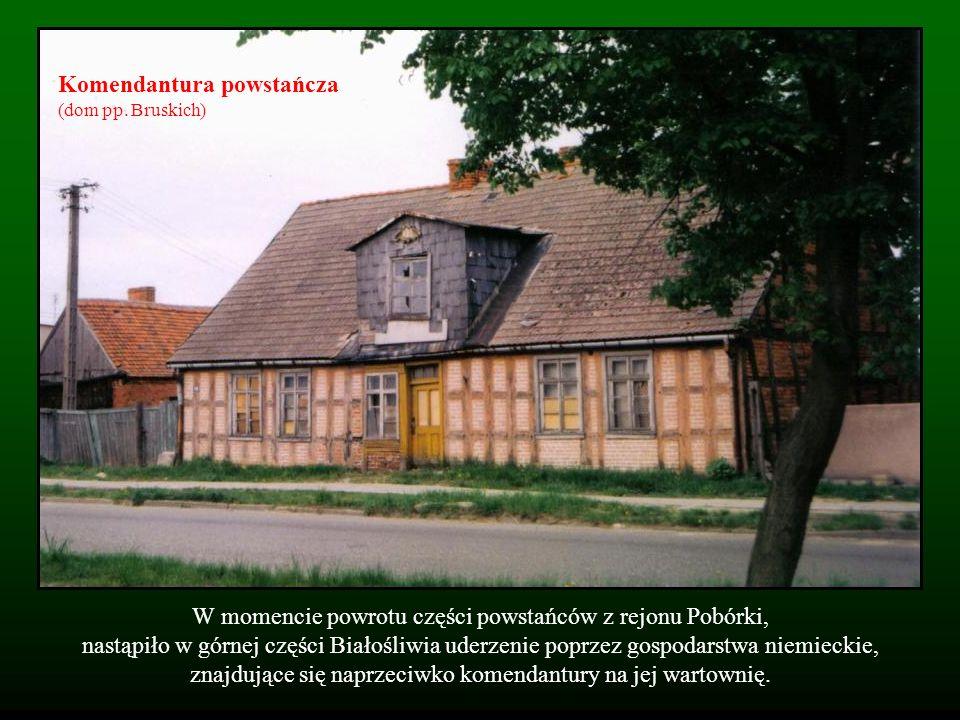 W momencie powrotu części powstańców z rejonu Pobórki, nastąpiło w górnej części Białośliwia uderzenie poprzez gospodarstwa niemieckie, znajdujące się