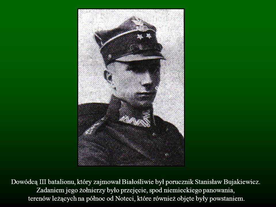 Dowódcą III batalionu, który zajmował Białośliwie był porucznik Stanisław Bujakiewicz. Zadaniem jego żołnierzy było przejęcie, spod niemieckiego panow