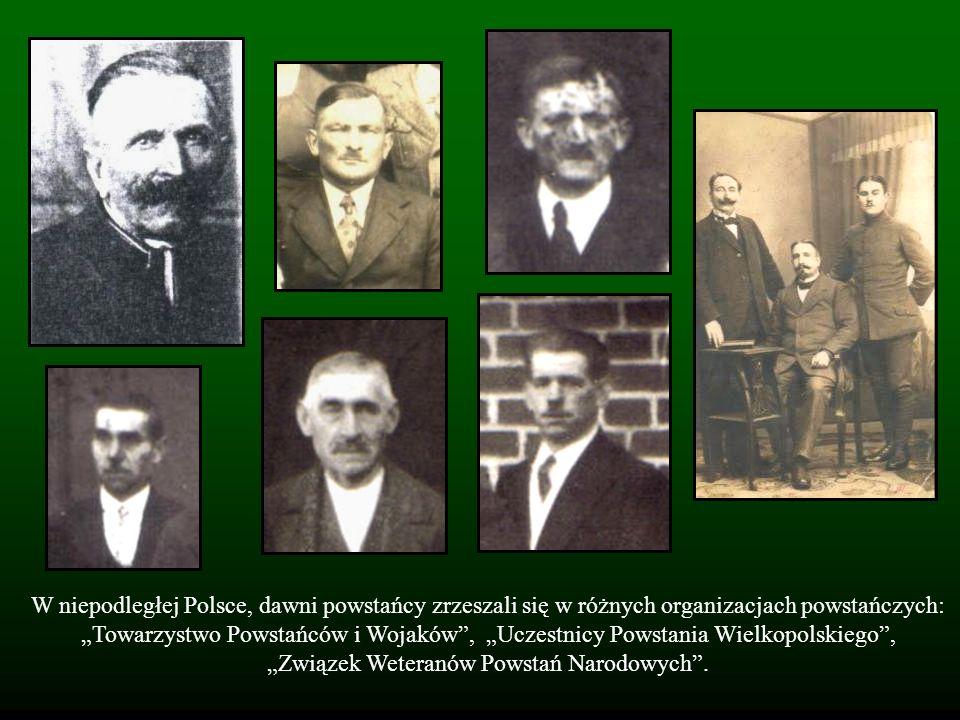 W niepodległej Polsce, dawni powstańcy zrzeszali się w różnych organizacjach powstańczych: Towarzystwo Powstańców i Wojaków, Uczestnicy Powstania Wiel