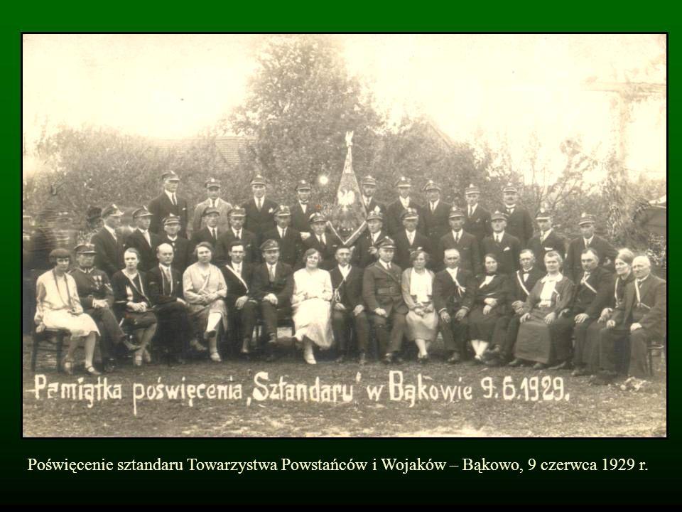 Poświęcenie sztandaru Towarzystwa Powstańców i Wojaków – Bąkowo, 9 czerwca 1929 r.