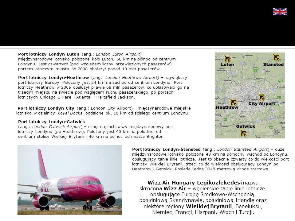 Wizz Air Hungary Legikozlekedesi nazwa skrócona Wizz Air – węgierskie tanie linie lotnicze, obsługujące Europę Środkowo-Wschodnią, południową Skandyna