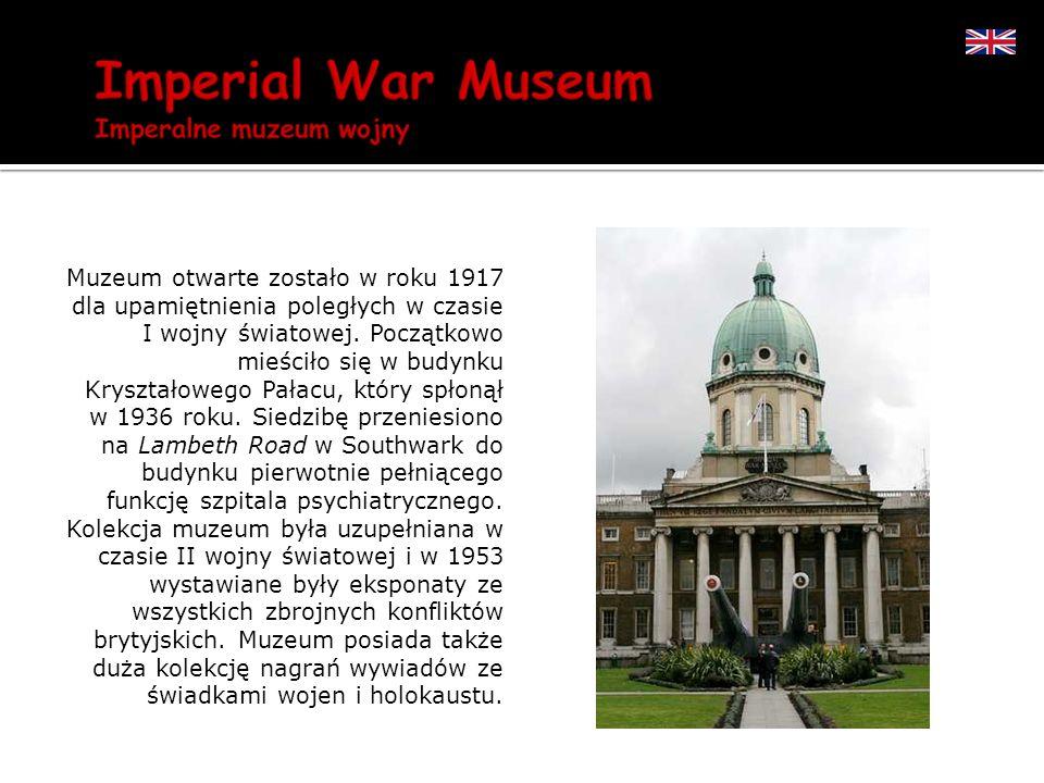 Muzeum otwarte zostało w roku 1917 dla upamiętnienia poległych w czasie I wojny światowej. Początkowo mieściło się w budynku Kryształowego Pałacu, któ