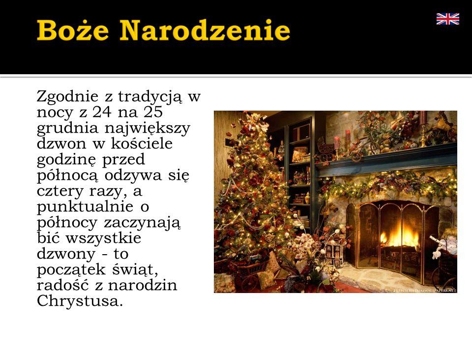 Zgodnie z tradycją w nocy z 24 na 25 grudnia największy dzwon w kościele godzinę przed północą odzywa się cztery razy, a punktualnie o północy zaczyna