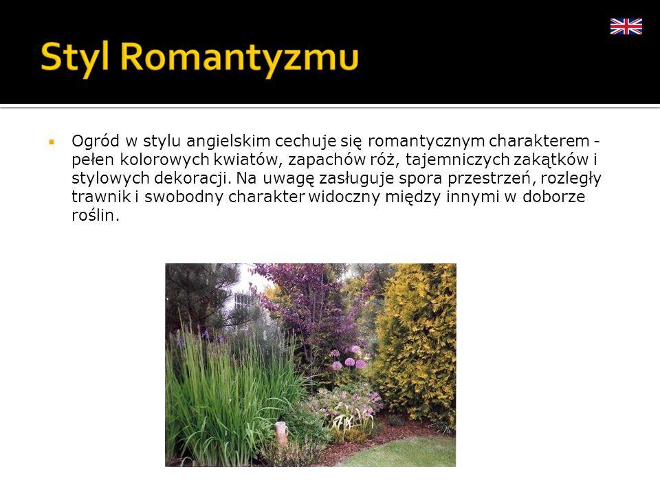 Ogród w stylu angielskim cechuje się romantycznym charakterem - pełen kolorowych kwiatów, zapachów róż, tajemniczych zakątków i stylowych dekoracji. N
