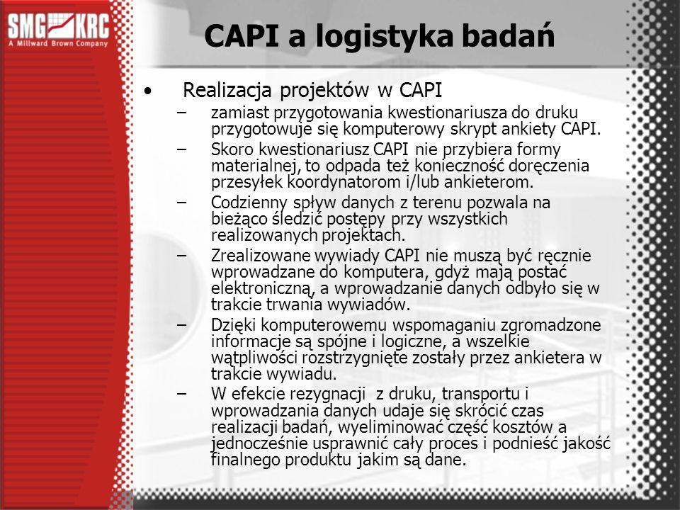 Proste porównanie oszczędności i kosztów prowadzi do stwierdzenia, że badania CAPI są nieco droższe niż klasyczne badania PAPI.