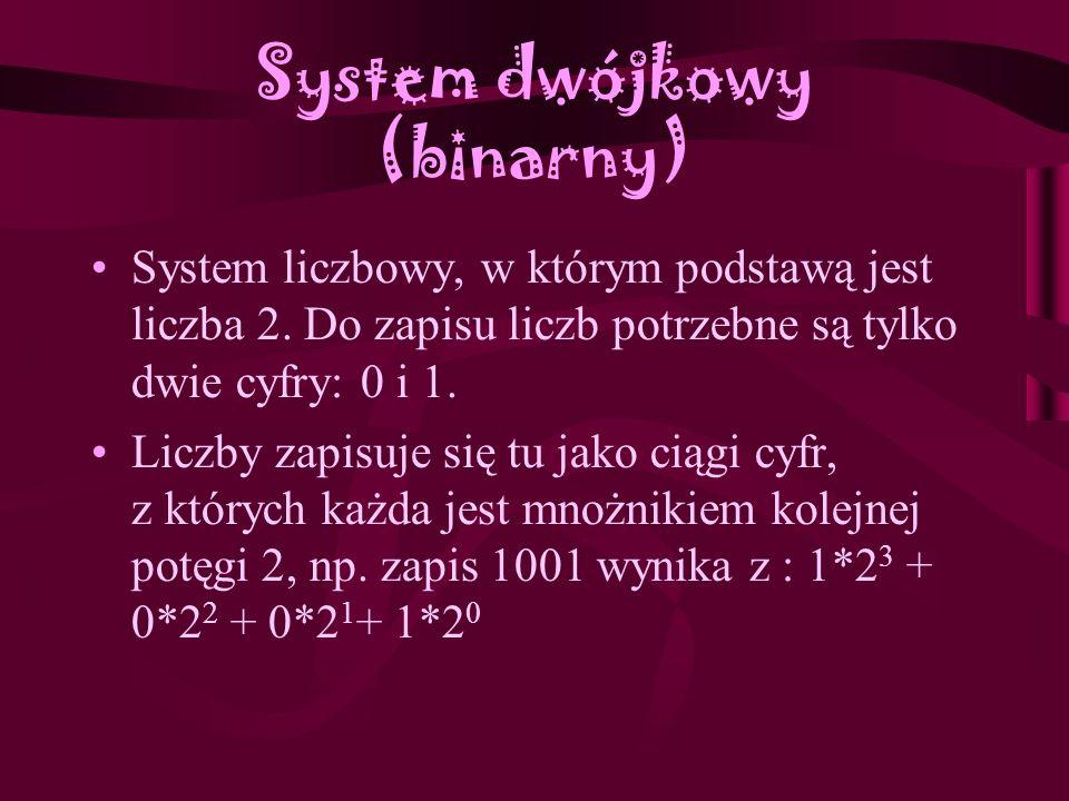 Zadanie 2 Jak zbudowa ć liczb ę w ró ż nych systemach ?