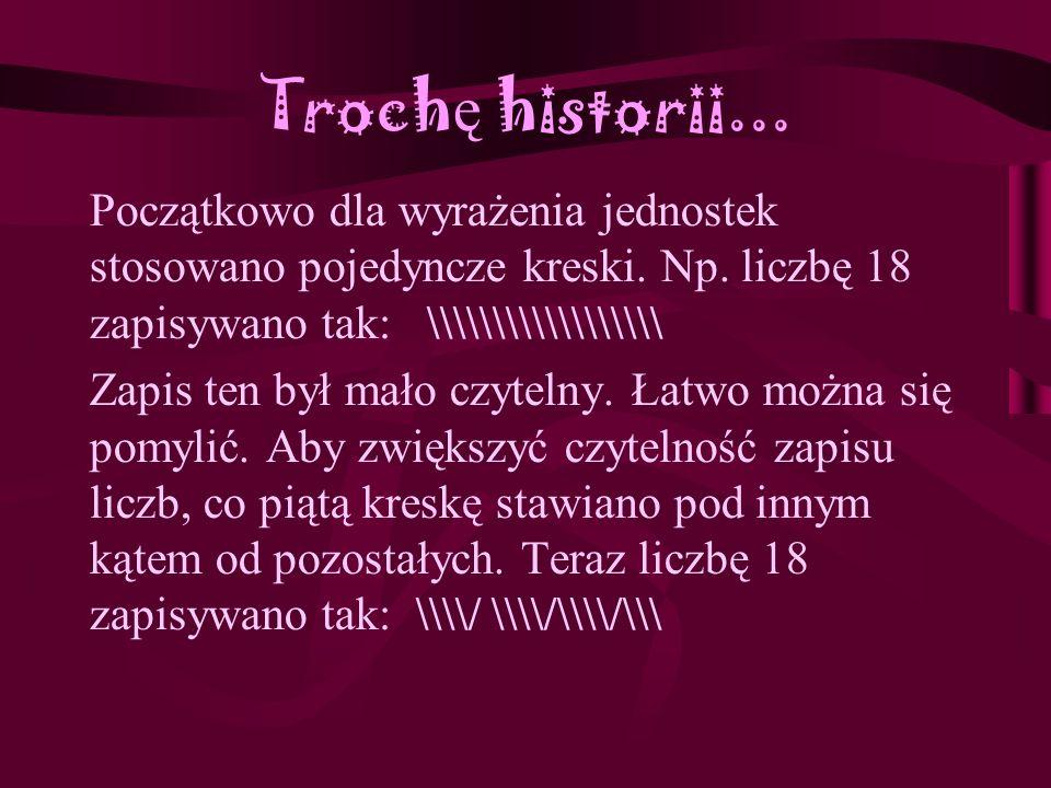 Zastosowania innych systemów liczbowych - cd Do dziś w Polsce używa się takich wywodzących się z systemu dwunastkowego pojęć jak tuzin (12 sztuk), gros (12 tuzinów- 144 sztuki) oraz kopa (5 tuzinów- 60 sztuk)