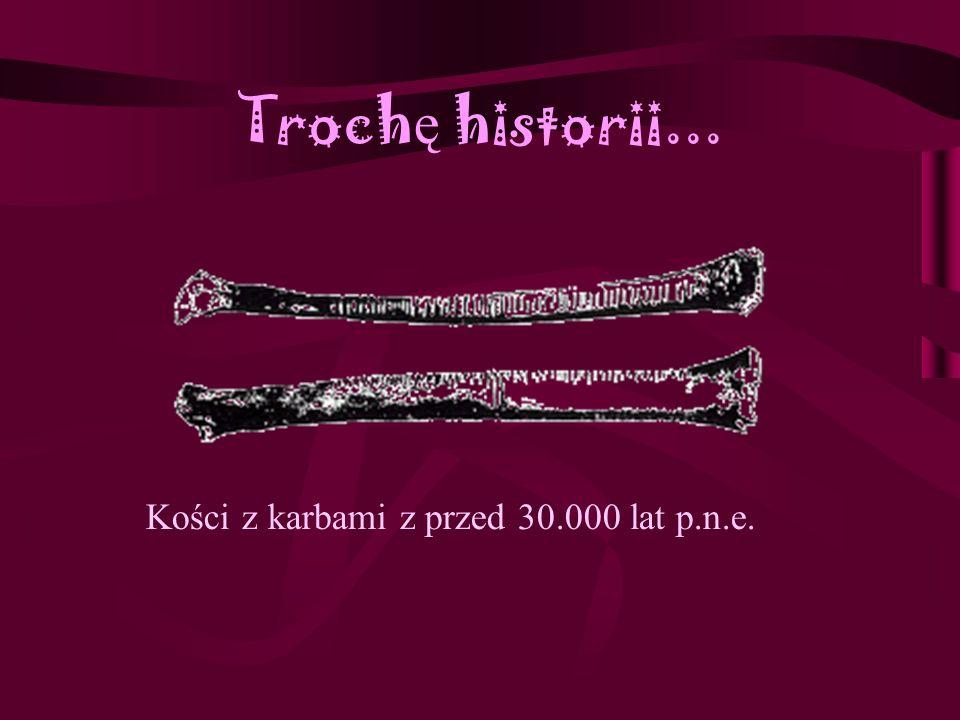 Troch ę historii... Kości z karbami z przed 30.000 lat p.n.e.