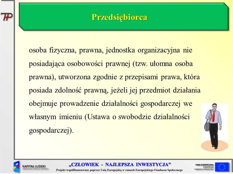 Działalność gospodarcza (1) Działalność Gospodarcza – jest różnie w różnych ustawach definiowana.
