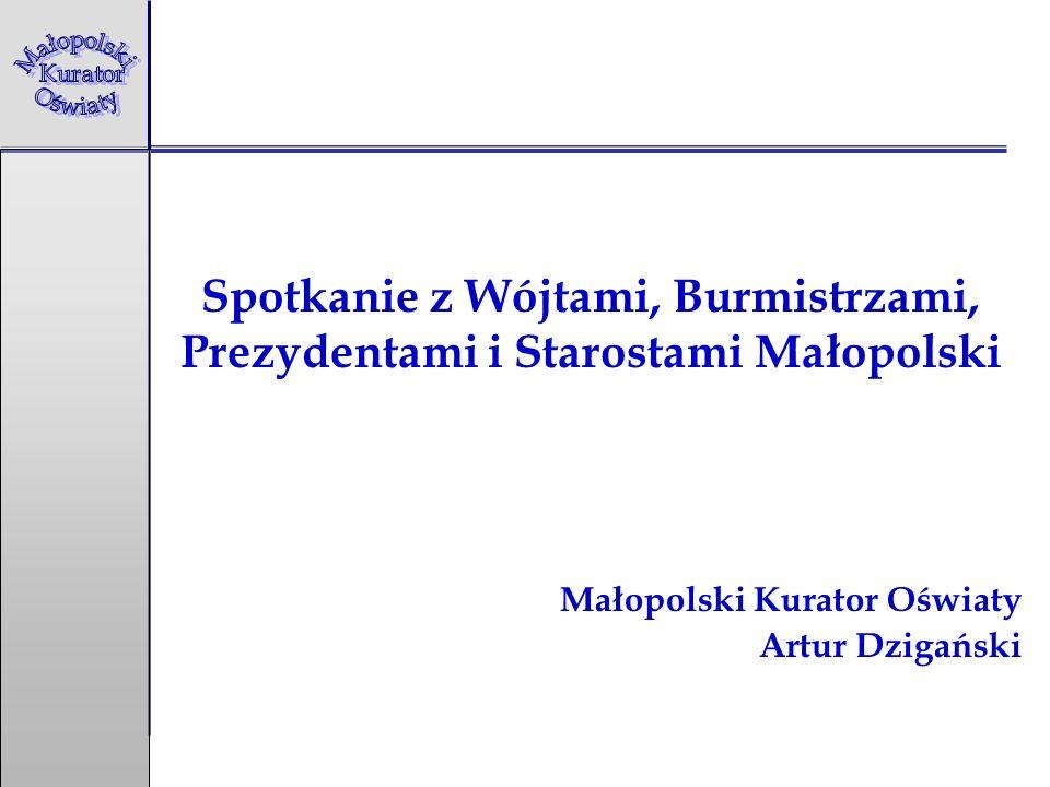 Spotkanie z Wójtami, Burmistrzami, Prezydentami i Starostami Małopolski Małopolski Kurator Oświaty Artur Dzigański