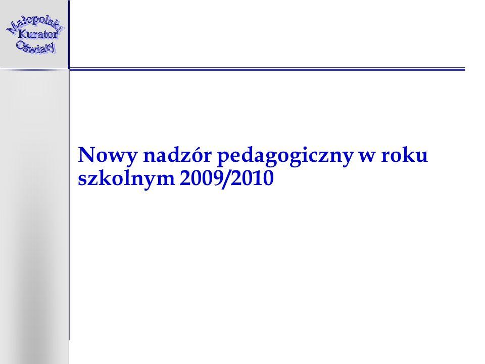 Nowy nadzór pedagogiczny w roku szkolnym 2009/2010