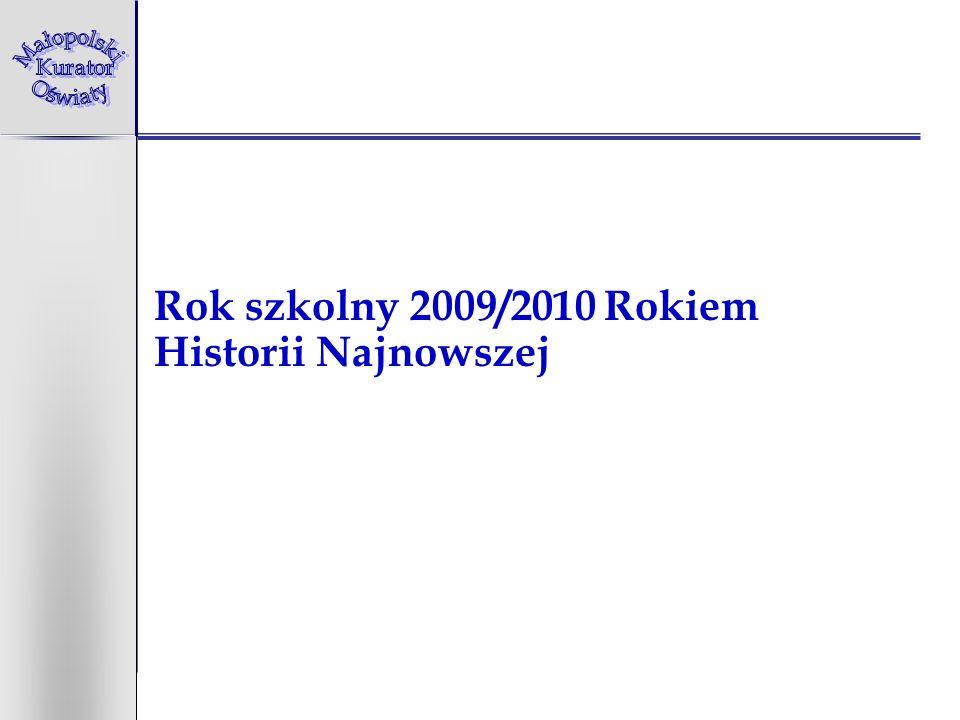 Rok szkolny 2009/2010 Rokiem Historii Najnowszej