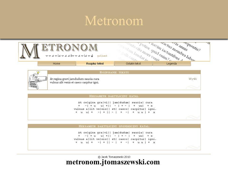 Metronom metronom.jtomaszewski.com