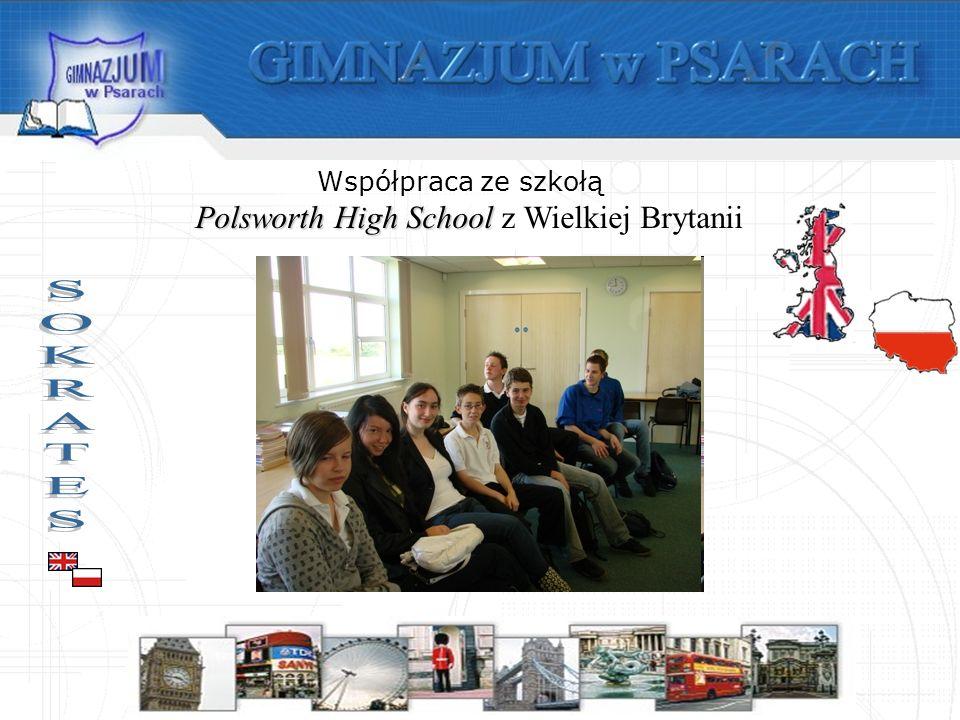 Współpraca ze szkołą Polsworth High School Polsworth High School z Wielkiej Brytanii