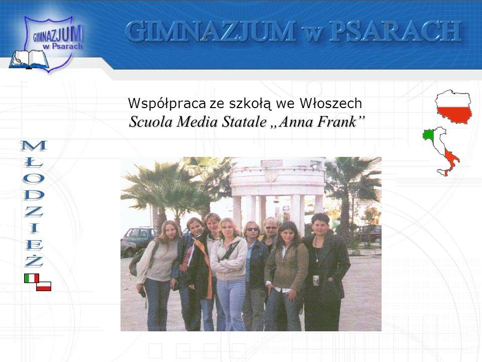Współpraca ze szkołą we Włoszech Scuola Media Statale Anna Frank