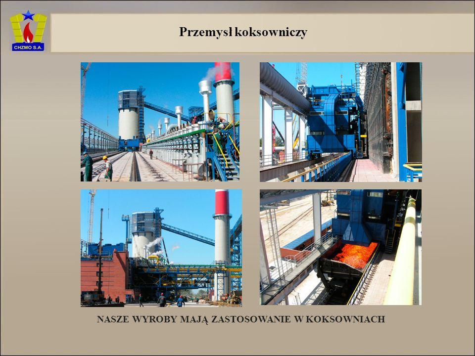 Oferujemy wyroby dla gałęzi przemysłu: Przemysł koksowniczy Przemysł szklarski Przemysł hutniczy żelaza i stali