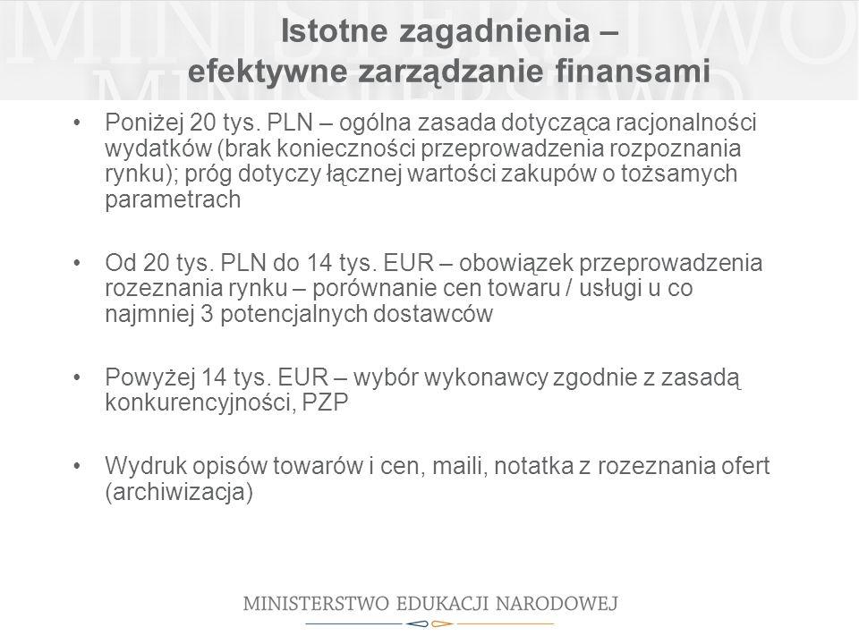 Istotne zagadnienia – efektywne zarządzanie finansami Poniżej 20 tys.