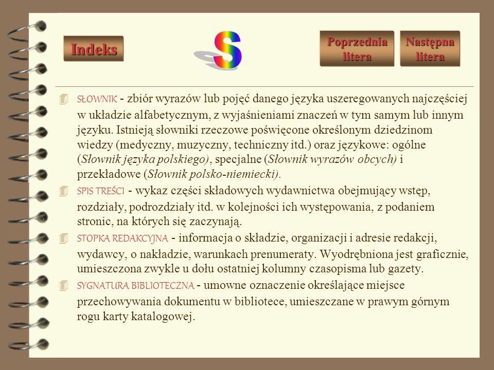 REGULAMIN BIBLIOTEKI - zbiór przepisów regulujących sprawy organizacji i funkcjonowania biblioteki, w szczególności jej usług. RĘKOPIS - tekst napisan