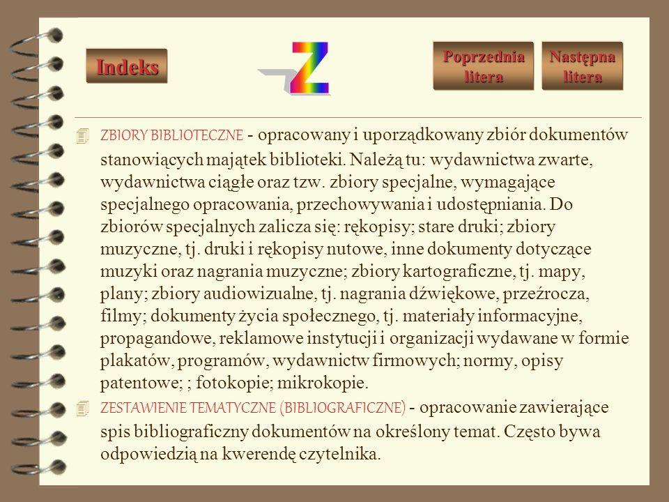 WOLUMIN - jednostka introligatorska utworzona przez oprawienie całości wydawnictwa lub jego poszczególnych części. WYDAWNICTWO - 1. Dzieło (lub zbiór
