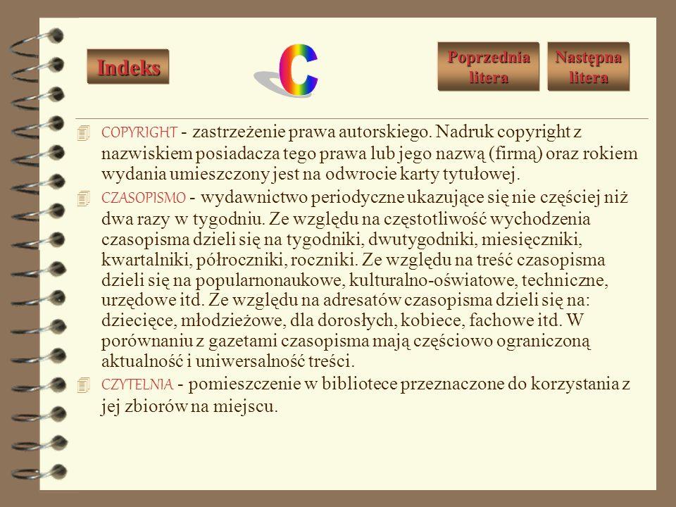 BIBLIOGRAFIA OSOBOWA - spis bibliograficzny rejestrujący: dzieła jednego autora lub zespołu osób - jest to bibliografia podmiotowa; dzieła o jednej osobie lub zespole osób - jest to bibliografia przedmiotowa.