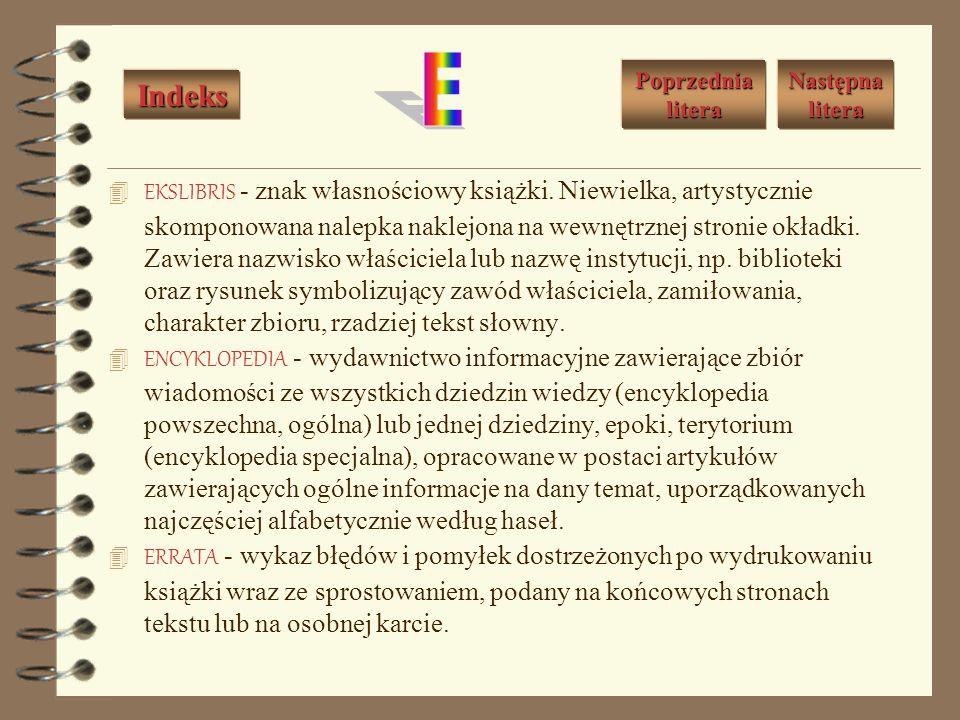 EKSLIBRIS - znak własnościowy książki.