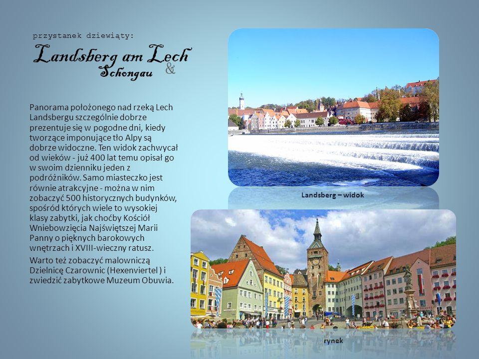 To miasto u podnóża Alp Bawarskich zostało założone w roku 15 roku p.n.e. i jest jednym z najstarszych miast w Niemczech. Miasto obfituje we wspaniałe