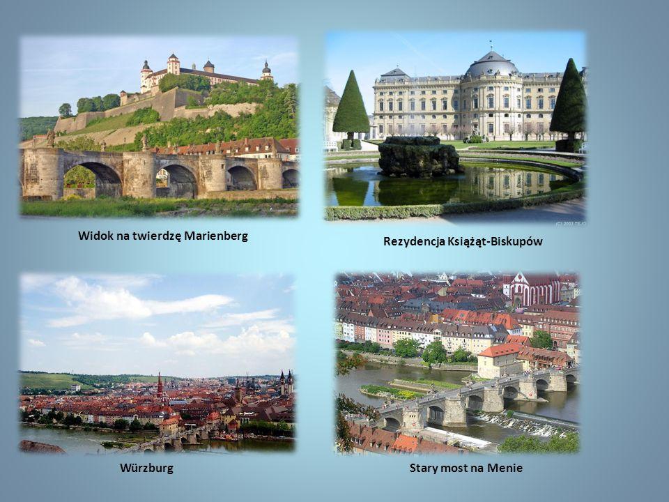 Stary most na Menie Rezydencja Książąt-Biskupów Widok na twierdzę Marienberg Würzburg