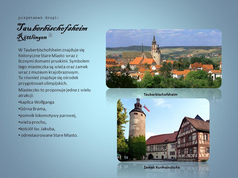 Romantyczną scenerię zapewnia barokowy zamek Schillingsfürst.