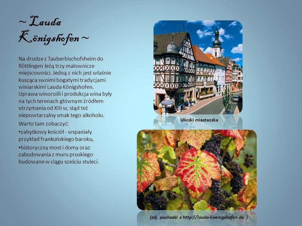 Tauberbischofsheim W Tauberbischofsheim znajduje się historyczne Stare Miasto wraz z licznymi domami pruskimi. Symbolem tego miasteczka są wieża oraz
