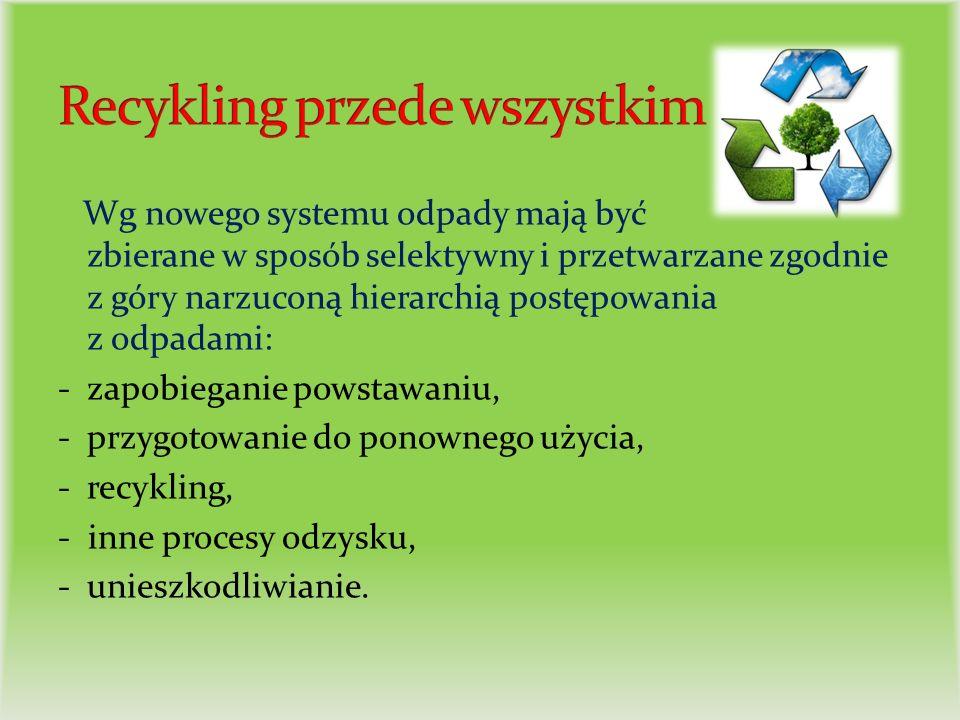 Takie rozwiązanie ma przyczynić się do zwiększenia ilości odpadów poddawanych procesom odzysku (w tym recyklingu), zmniejszenia ilości odpadów poddawanych procesom unieszkodliwiania, a w szczególności unieszkodliwiania przez składowanie, które jest najmniej pożądanym sposobem gospodarowania odpadami.