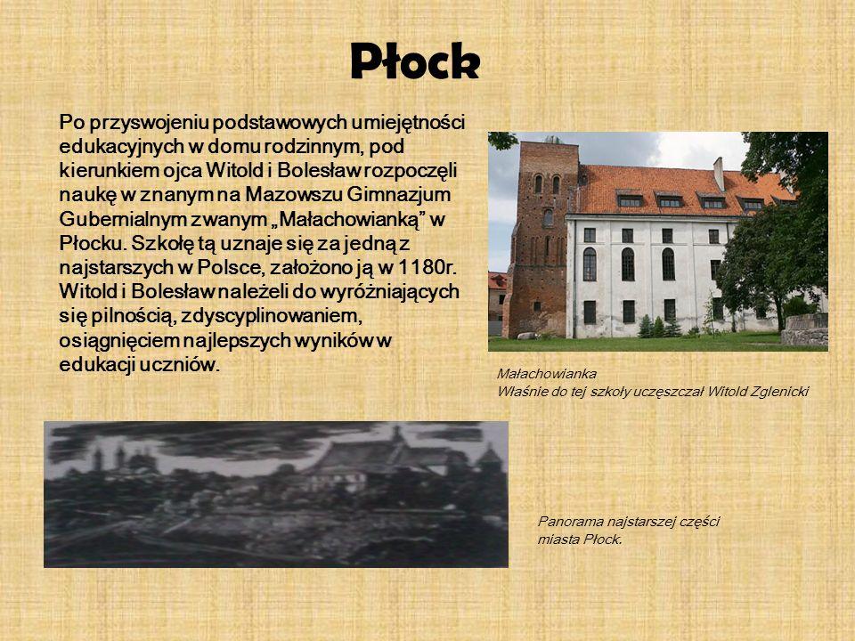 Płock Po przyswojeniu podstawowych umiejętności edukacyjnych w domu rodzinnym, pod kierunkiem ojca Witold i Bolesław rozpoczęli naukę w znanym na Mazo