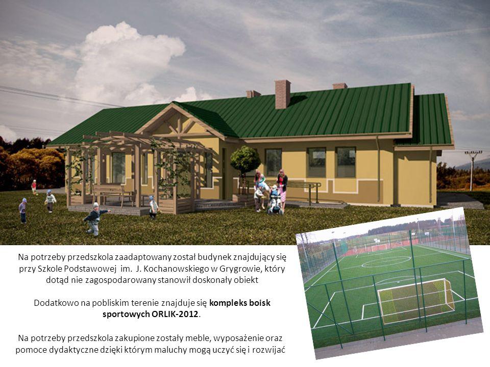 Na potrzeby przedszkola zaadaptowany został budynek znajdujący się przy Szkole Podstawowej im. J. Kochanowskiego w Grygrowie, który dotąd nie zagospod