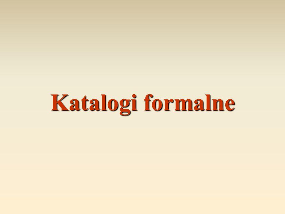 Katalogi formalne