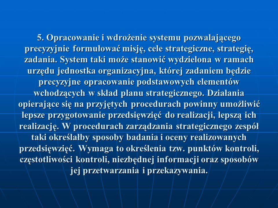 6.Opracowanie zasad systemu monitoringu i kontroli.