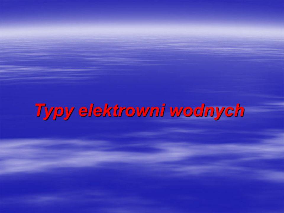 Typy elektrowni wodnych