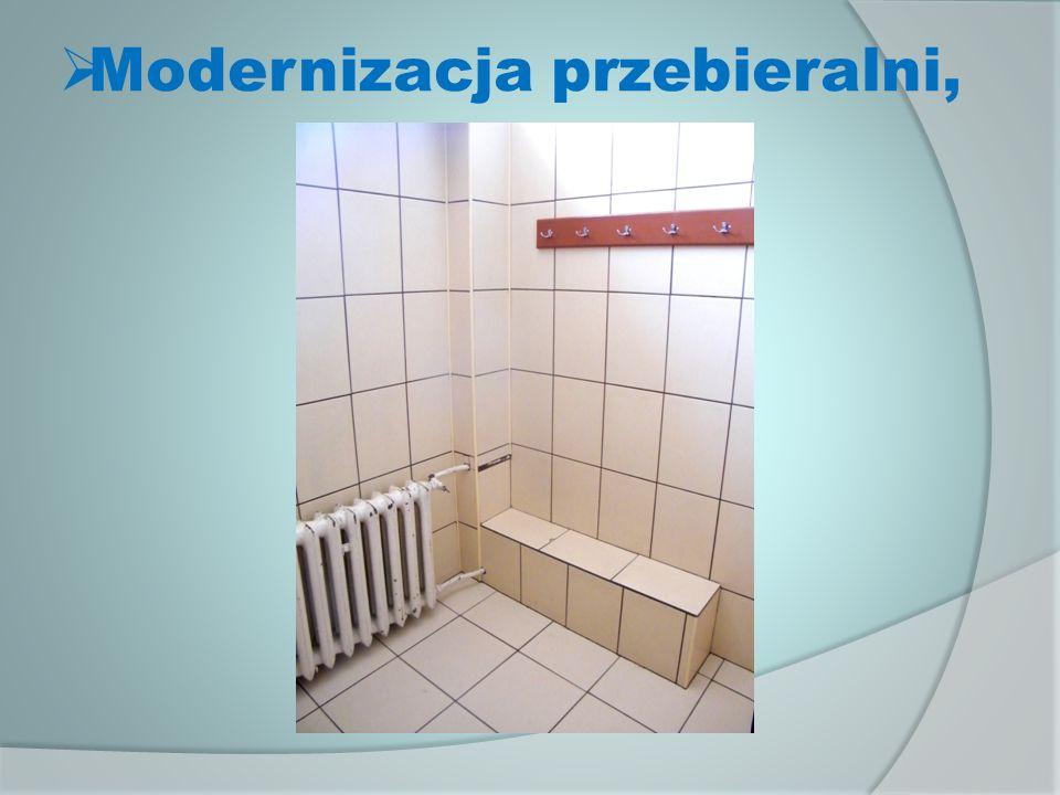 Modernizacja przebieralni,