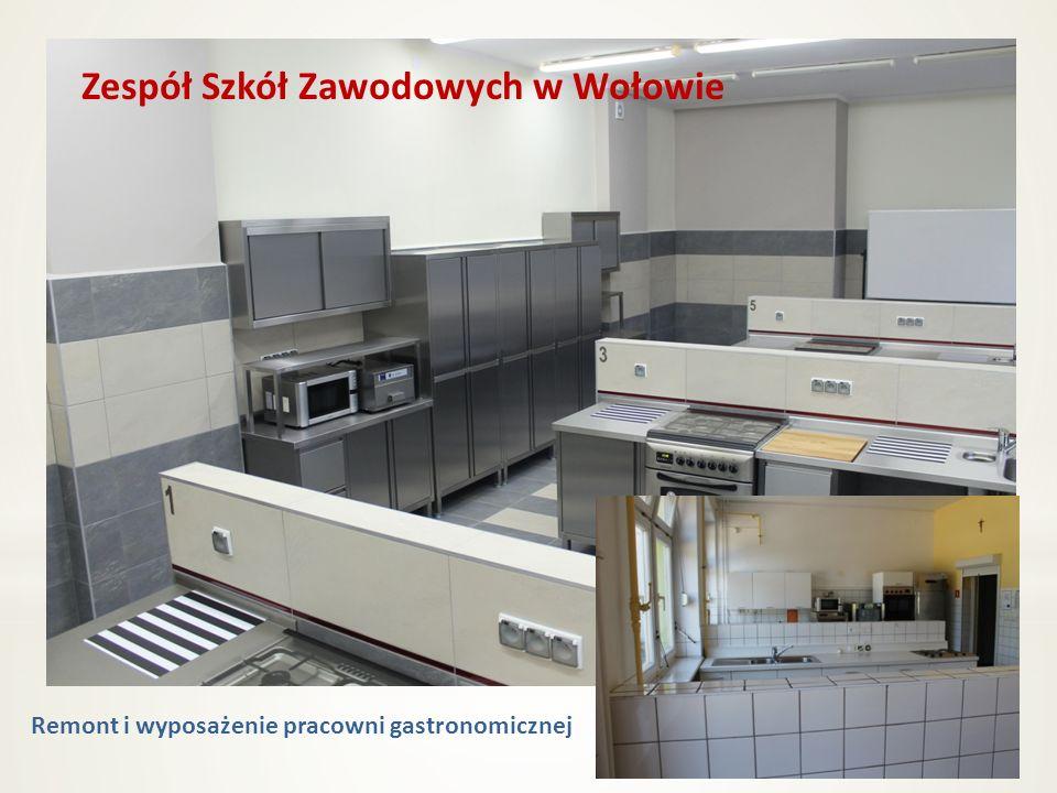 Remont i wyposażenie pracowni gastronomicznej Zespół Szkół Zawodowych w Wołowie